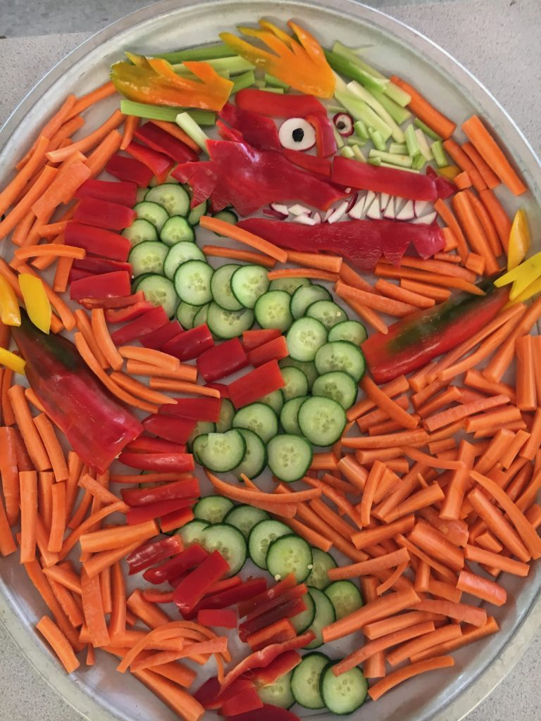 Dragon with Veggies by Hal
