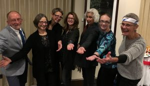 L-R: Bob RD, Kathi RD, Laurie M, Cindy M, Mina HR, Delaine S, Lori SW. Missing: Judy R, Maureen Y.